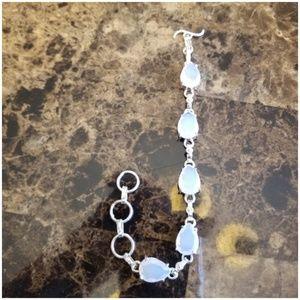 """Jewelry - Milky Opal Bracelet 8"""" long"""